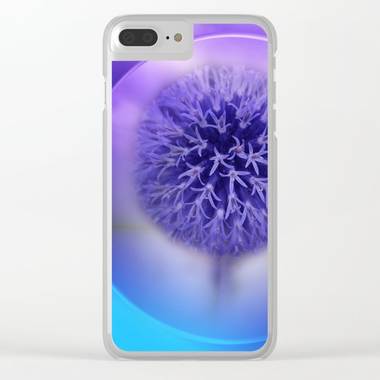 lilac on lilac -2- in portrait format Clear iPhone Case