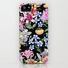 FLORAL GARDEN 3 #floral #flowers #vintage iPhone Case