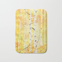 Autumn Birch Bath Mat