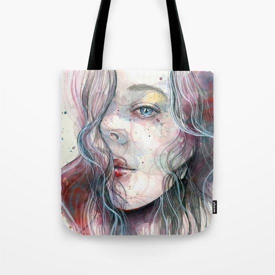 Sleepy violet, watercolor Tote Bag