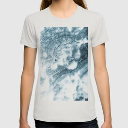 Marble Flow - Moody Blue T-shirt