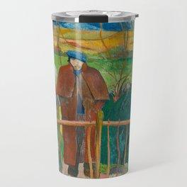 Bonjour Monsieur Gauguin (II) - Paul Gauguin (1889) Travel Mug