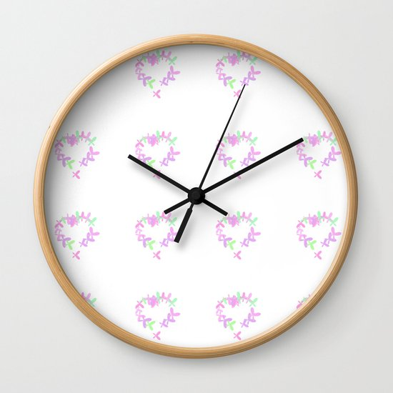 Butterflies Painting Hearts In The Sky Wall Clock