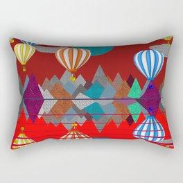 Hot Air Balloon Reflections Over Red Sea Rectangular Pillow