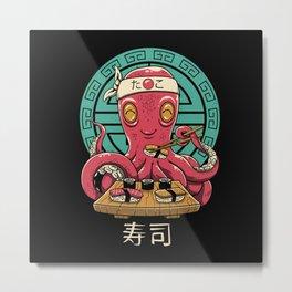 Octo Sushi Metal Print