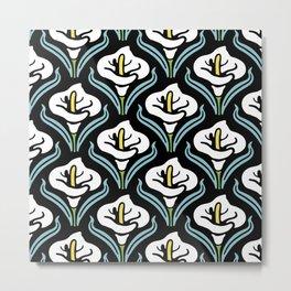 Calla Lily Pattern Metal Print