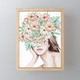 She Wore Flowers in Her Hair Island Dreams Framed Mini Art Print