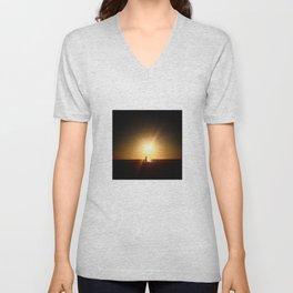 Sunset Tech Unisex V-Neck