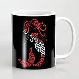 Tribal Scuba Flag Mermaid Coffee Mug