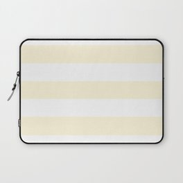 Cornsilk - solid color - white stripes pattern Laptop Sleeve