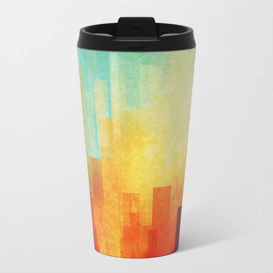 Urban sunset Metal Travel Mug