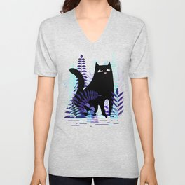 The Ferns (Black Cat Version) Unisex V-Neck