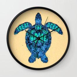 ocean omega Wall Clock