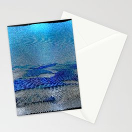 Blue Snow Stationery Cards
