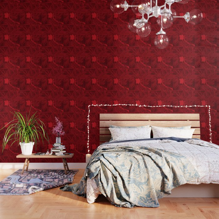red geek motherboard circuit pattern wallpaper by shirtsandgifts