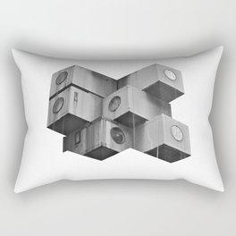 Architecture futur grey Rectangular Pillow