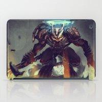 titan iPad Cases featuring Titan Terrabreaker by Benedick Bana