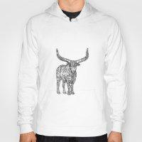 bull Hoodies featuring Bull by Takashi  Ariyoshi
