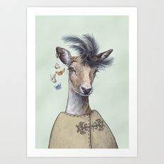 Oh deer, that´s posh! Art Print
