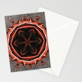 Kaleidoscope Flames Stationery Cards