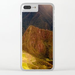 THE MACHU PICCHU VALLEY- PANORAMIC VIEW Clear iPhone Case