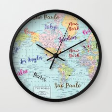 Fashion Capitals Wall Clock