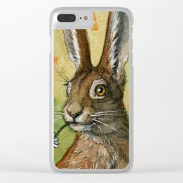 Funny bunnies - One daisy for you 488 Clear iPhone Case