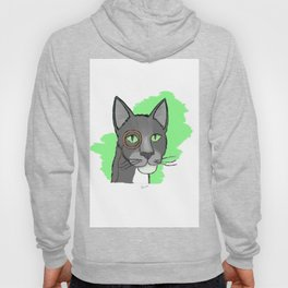 Cat With Monocle Hoody