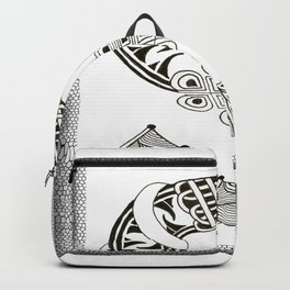 Zentangle S Monogram Alphabet Initials Backpack