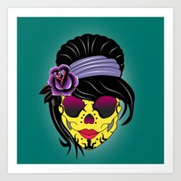 sugar skull Art Prints featuring SUGAR SKULL by mark ashkenazi