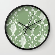 In which a fish frees itself (green option) Wall Clock