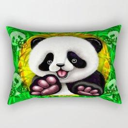 Panda Baby Bear Cute and Happy Rectangular Pillow