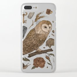 Harvest Owl Clear iPhone Case