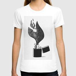Fired up. T-shirt