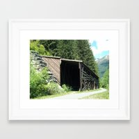 john snow Framed Art Prints featuring Snow Shed by NoelleB