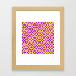 Brain Coral Pink Banded Cross Small Polyps - Coral Reef Series 029 Framed Art Print