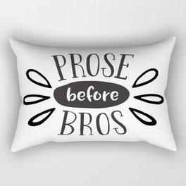 Prose Before Bros - Black On White Rectangular Pillow
