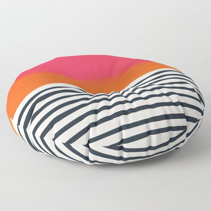 Sunset Ripples Floor Pillow