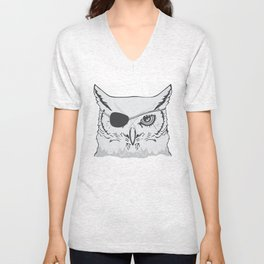 Owl Pirate Unisex V-Neck