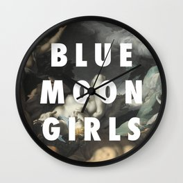 Blue Moon Grrls Wall Clock