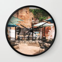 NOLA Dining Courtyard Wall Clock