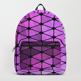 Purple Geometric Design Backpack