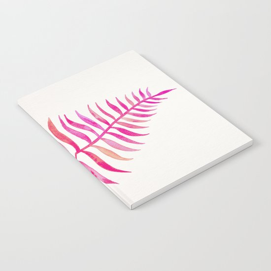 Pink Palm Leaf Notebook