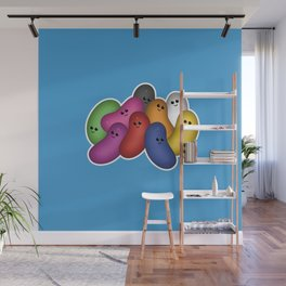 Happy Jelly Beans! (Blue) Wall Mural