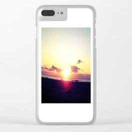 The Sun Also Rises Morning sun Beach Sea Clear iPhone Case