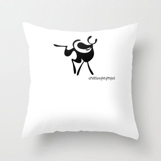 Dog 3 Throw Pillow