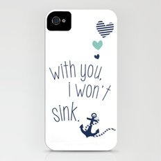 With You I Wont Sink Slim Case iPhone (4, 4s)