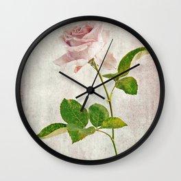 English Tea Rose  Wall Clock