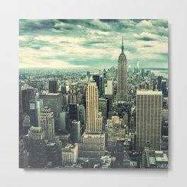 new york city panoramic view skyline Metal Print