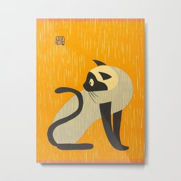Asai Kiyoshi Japanese Woodblock Siamese Cat Midcounty Modern Art Metal Print